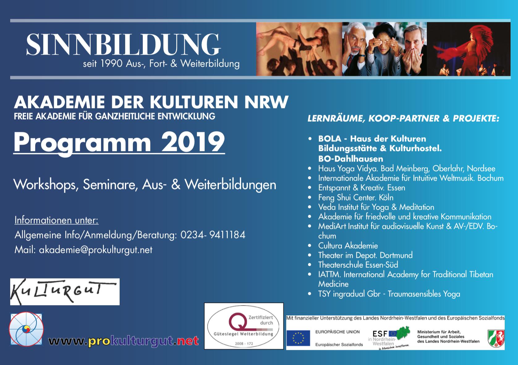 Gesamtprogramm 2019 Akademie der Kulturen NRW