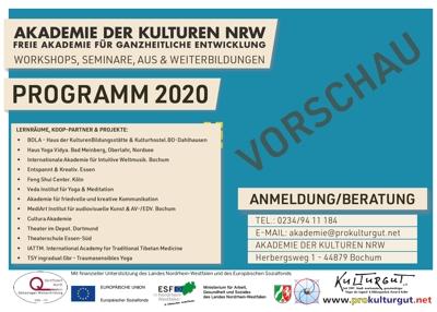 Akademie der Kulturen Programm 2020