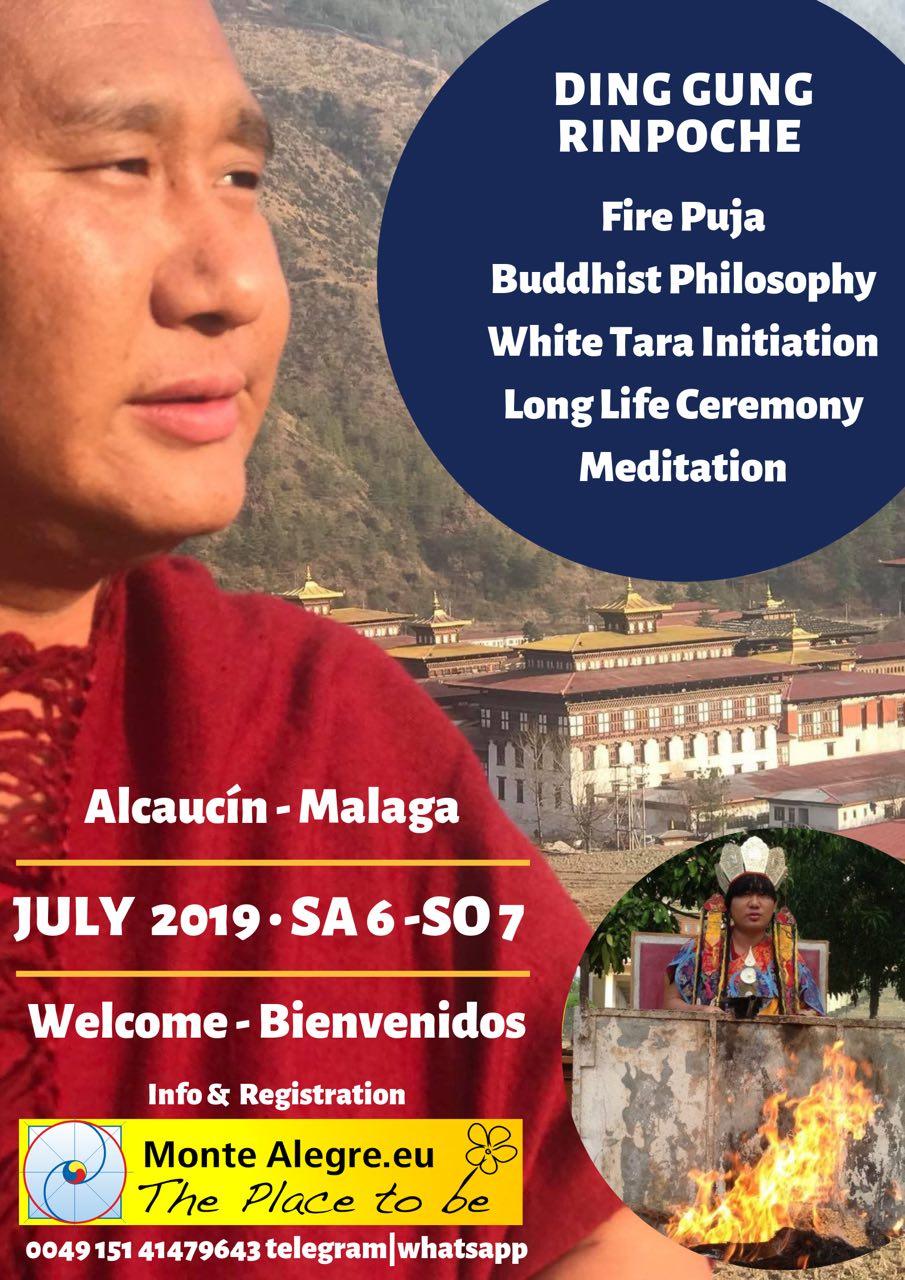 Ding Gung Rinpoche – en Málaga Enseñanza de Dharma e iniciación con un famoso Lama Tibetano de la India