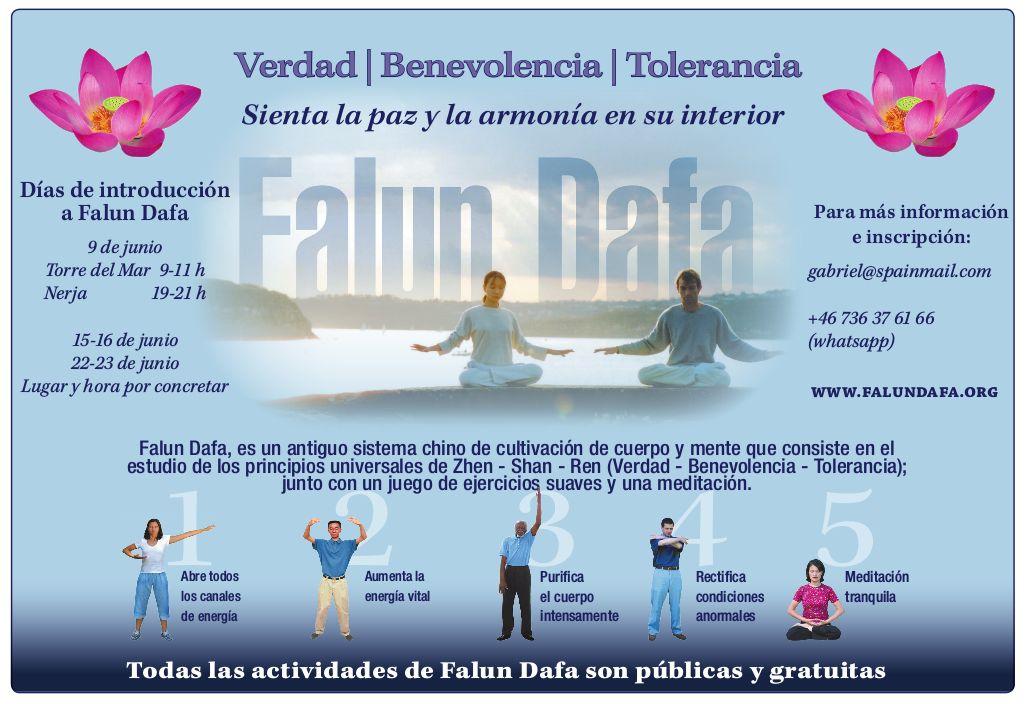 FREE! – Dias de introduccíon a FALUN DAFA en Torre del Mar y Nerja