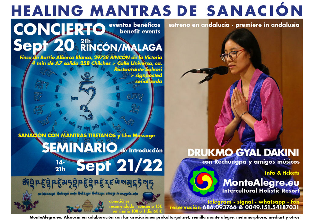 Mantras de sanación con Dakini Drukmo Gyal. Concierto en Rincón de la Victoria, Málaga