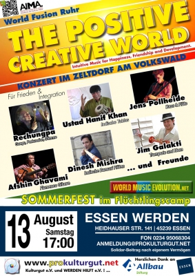 The Positive Creative World Sommerfest am Volkswald