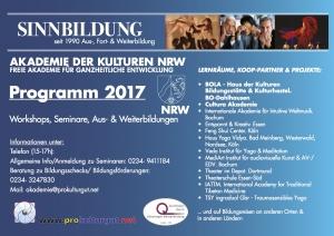 Programm Akademie der Kulturen NRW 2017