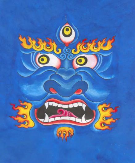 Buddhistische Gottheit Mahakala