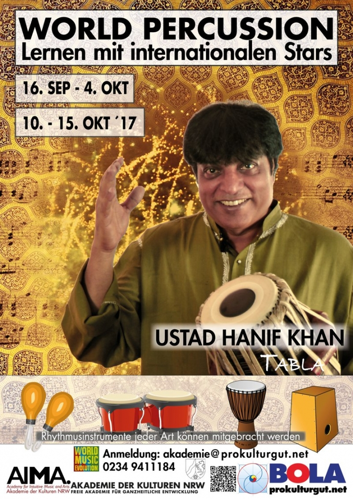 World Percussion Workshop mit Ustad Hanif Khan