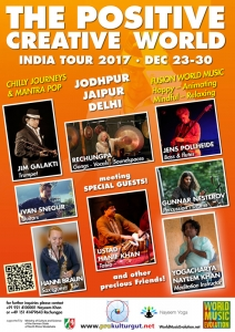 Newsletter Indien-Tournee Poster