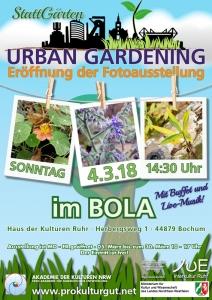 Urban Gardening Ausstellung Poster