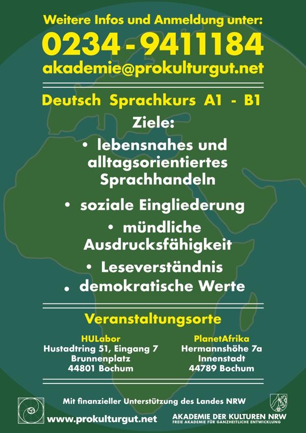 Deutschsprachkurs Akademie der Kulturen NRW